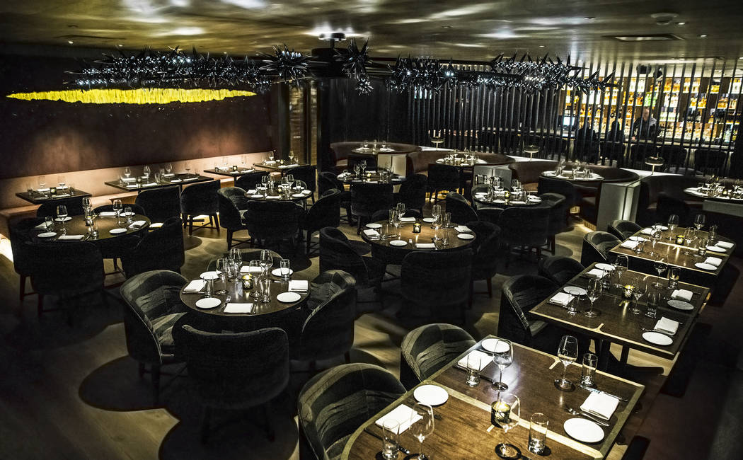 The dining room at MB Steak on Thursday, Aug 31, 2017, at the Hard Rock hotel-casino, in Las Vegas. Benjamin Hager Las Vegas Review-Journal @benjaminhphoto