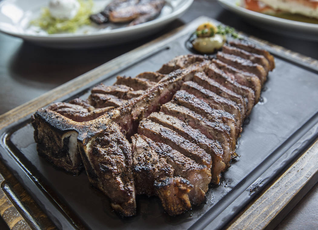 The 32 oz. double porterhouse at MB Steak on Thursday, Aug 31, 2017, at the Hard Rock hotel-casino, in Las Vegas. Benjamin Hager Las Vegas Review-Journal @benjaminhphoto