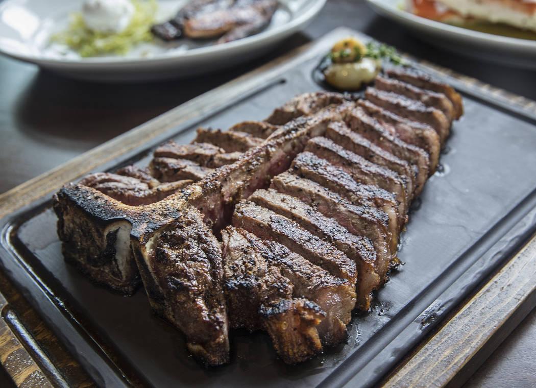 The 32 oz. double porterhouse at MB Steak on Thursday, Aug 31, 2017, at the Hard Rock hotel-casino, in Las Vegas. Benjamin Hager Las Vegas Review-Journal @benjaminhphoto