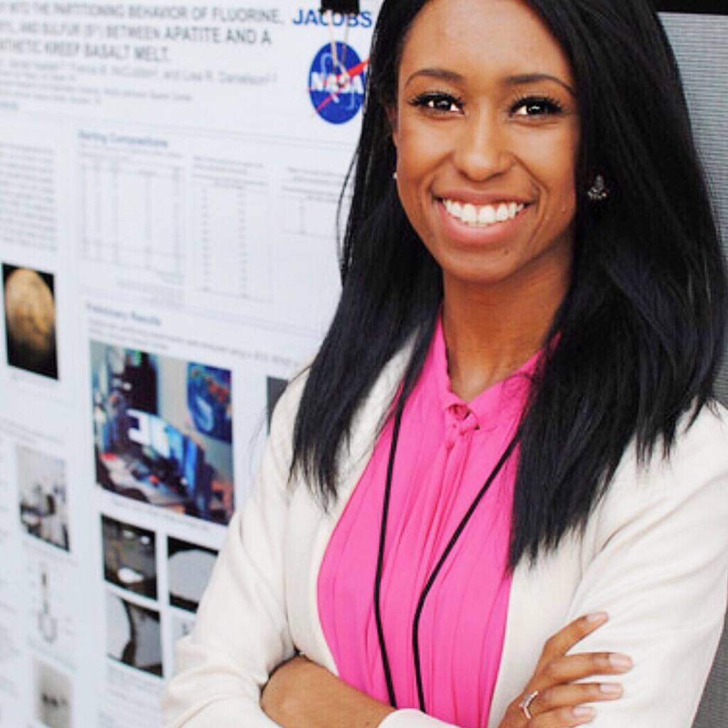 Amber Turner is seen spring 2017 at Lyndon B. Johnson Space Center in Texas. The possibility of living on Mars is on in the back of the UNLV's student's mind. But there would have to be a need for ...