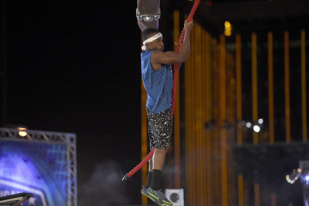 "AMERICAN NINJA WARRIOR -- ""Las Vegas Finals"" -- Pictured: Jelani Allen -- (Photo by: David Becker/NBC)"