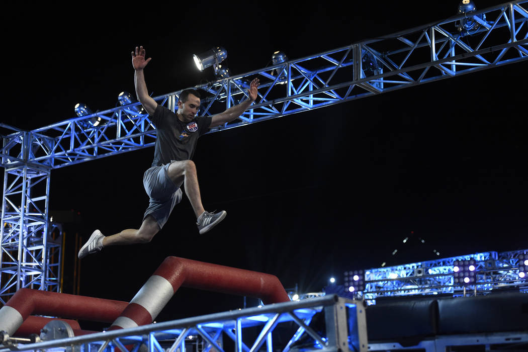 "AMERICAN NINJA WARRIOR -- ""Las Vegas Finals"" -- Pictured: Joe Moravsky -- (Photo by: David Becker/NBC)"