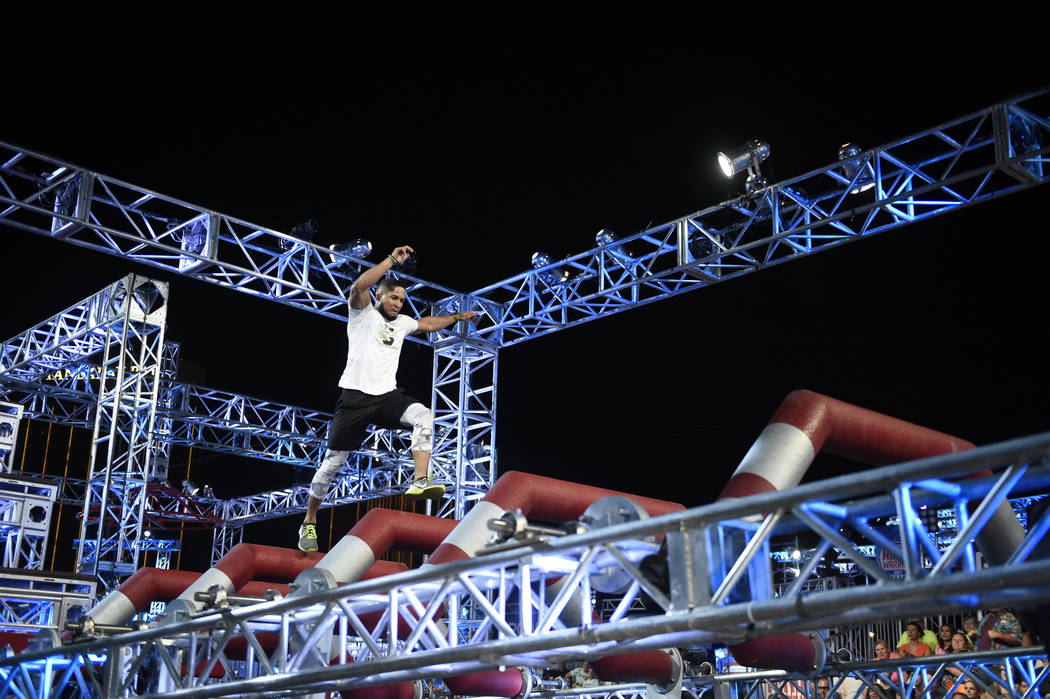 "AMERICAN NINJA WARRIOR -- ""Las Vegas Finals"" -- Pictured: JJ Woods -- (Photo by: David Becker/NBC)"
