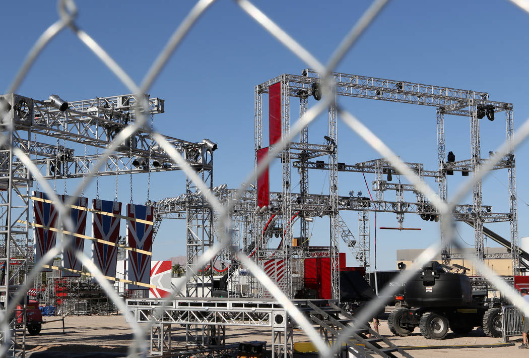 On June 16, the American Ninja Warrior obstacle course is being erected near Giles Street and E. Mandalay Bay Rd. for the show's finals, which will be taped in Las Vegas beginning on June 19. Heid ...