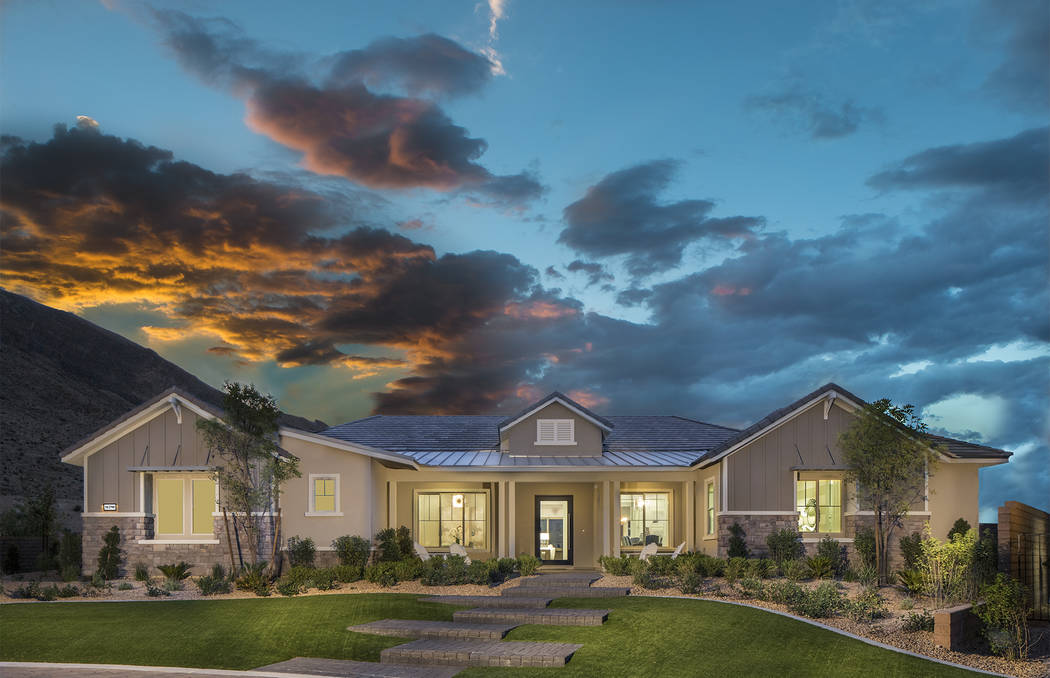 The Kingsgate model at Reverence is one of 23 floor plans in this new Summerlin village built exclusively by Pulte Homes. In Summerlin, Pulte also offers new homes at Estrella in The Paseos villag ...