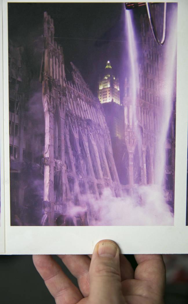 A photo of the World Trade Center after 9/11, taken by Duane Matters at the World Trade Center, in Las Vegas, Friday, Sept. 1, 2017.  Gabriella Angotti-Jones Las Vegas Review-Journal @gabriellaangojo