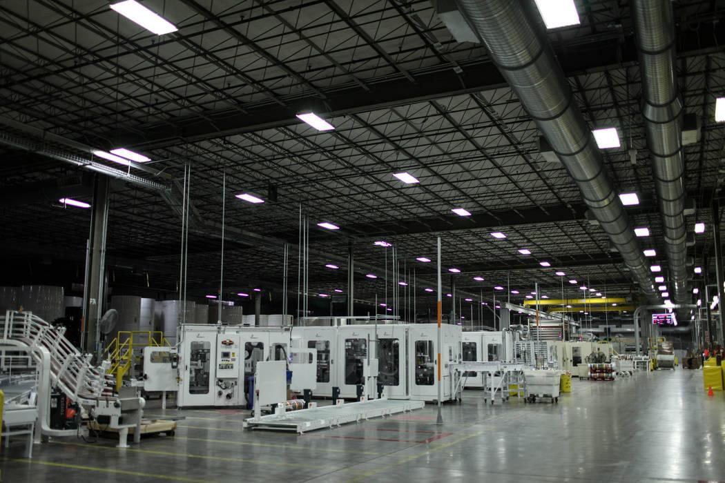 A view inside the Clearwater Paper plant in North Las Vegas, Thursday, Aug. 31, 2017. Joel Angel Juarez Las Vegas Review-Journal @jajuarezphoto