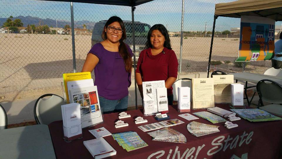 Southern Nevada Silver State Fair Housing Council members provided fair housing information at the Open Air Market in North Las Vegas. (Courtesy of Silver State Fair Housing Council)