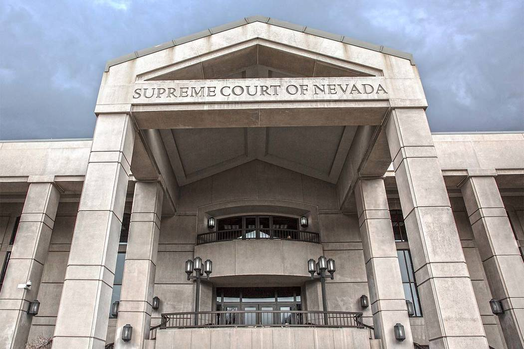 The exterior of the Supreme Court of Nevada in Carson City. (Benjamin Hager/Las Vegas Review-Journal)