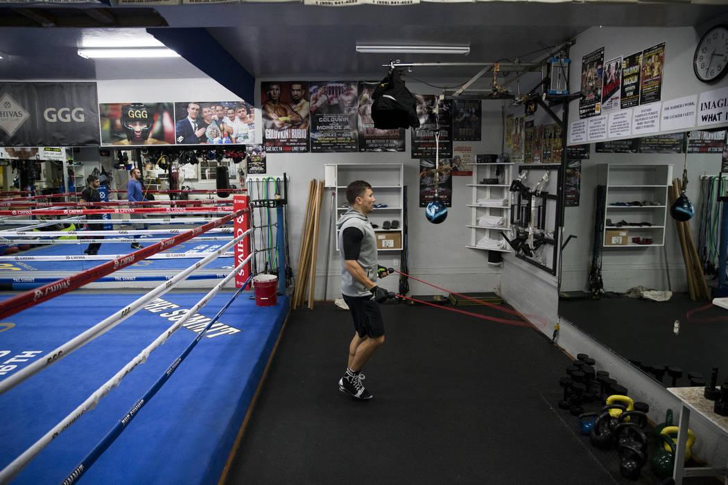 Gennady Golovkin during a workout at The Summit Gym in Big Bear, Calif., on Wednesday, July 26, 2017. Erik Verduzco Las Vegas Review-Journal @Erik_Verduzco