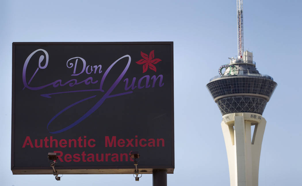 Mexican restaurant Casa Don Juan at 1204 S. Main St., in downtown Las Vegas Friday, Sept. 1, 2017. Richard Brian Las Vegas Review-Journal @vegasphotograph
