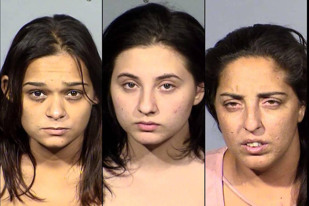 Sophia Nicholas, left, Amanda Miller and Barbara Miller (Las Vegas Metropolitan Police Department)