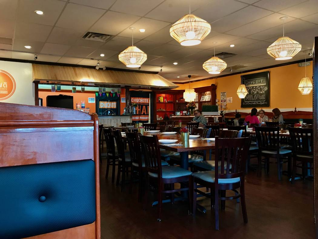The interior of Chuchote Thai Bistro and Desserts, pictured Aug. 31. (Madelyn Reese/View) @MadelynGReese