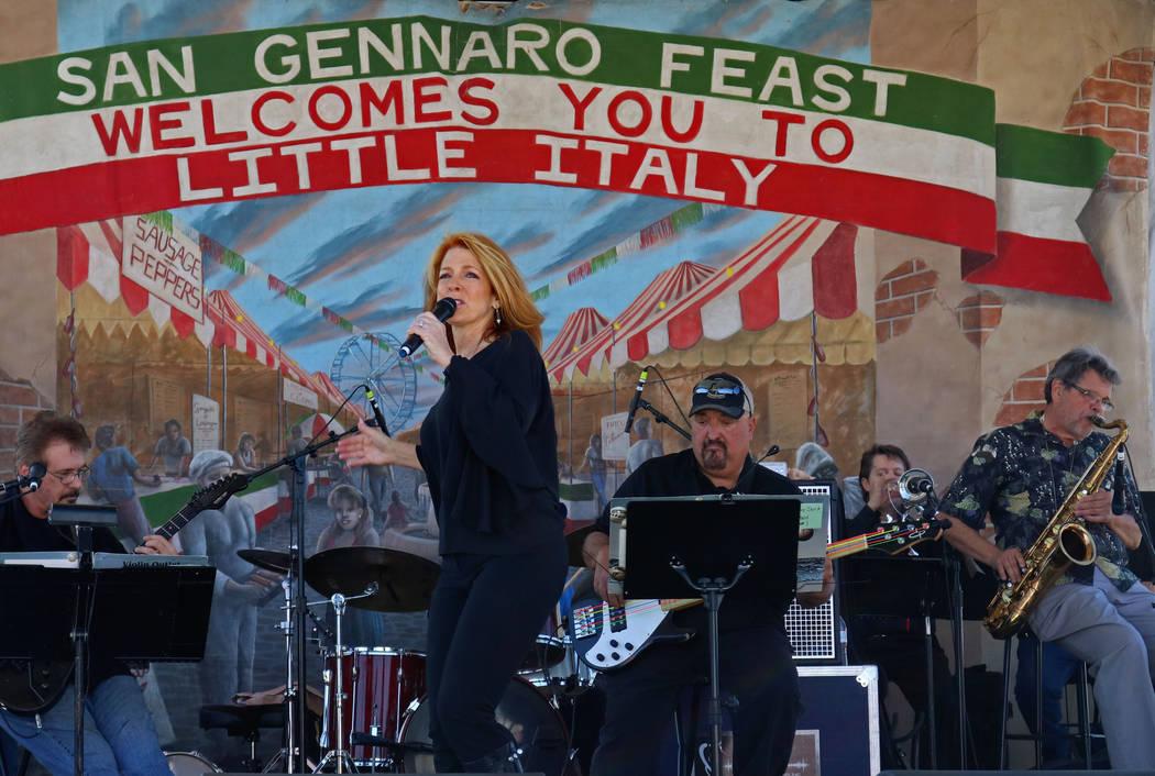 The Gerry Anderson Band performing at the San Gennaro Feast at Craig Ranch Regional Park, Wednesday, May 10, 2017. Gabriella Benavidez Las Vegas Review-Journal @latina_ish