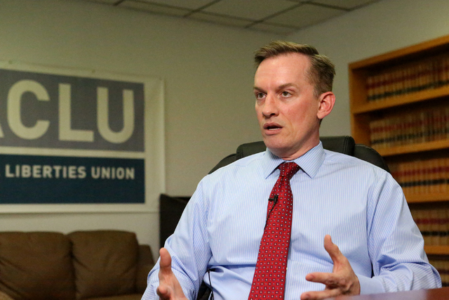 Tod Story, executive director of the ACLU of Nevada (Michael Quine/Las Vegas Review-Journal) @Vegas88s