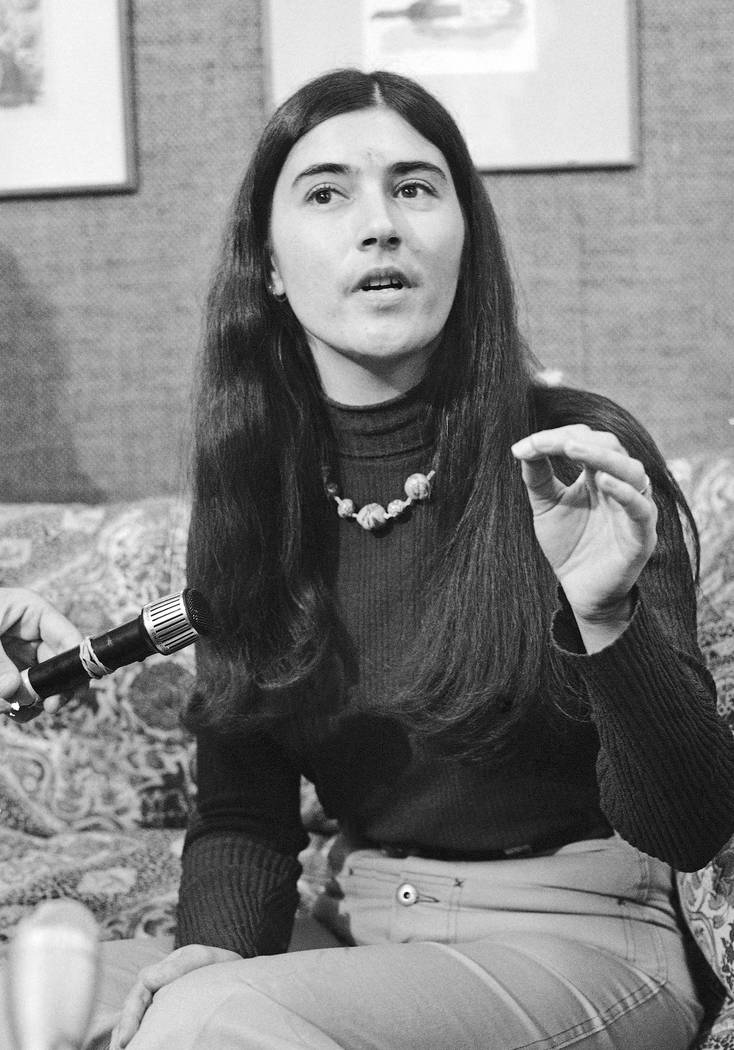 "Catherine ""Gypsy"" Share, paroled from prison after serving more than 3 1/2 years in connection with a robbery supposedly intended to gather arms to get Charles Manson out of jail, says she wasn't  ..."