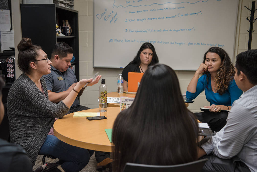 College of Southern Nevada students meet for their first Generation Dreamers session on Tuesday, Sep. 5, 2017, at CSN North Las Vegas campus. Morgan Lieberman Las Vegas Review-Journal