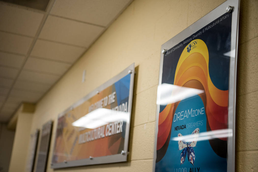 The wall of the room where the Generation Dreamers club met on Tuesday, Sep. 5, 2017, at College of Southern Nevada North Las Vegas campus. Morgan Lieberman Las Vegas Review-Journal