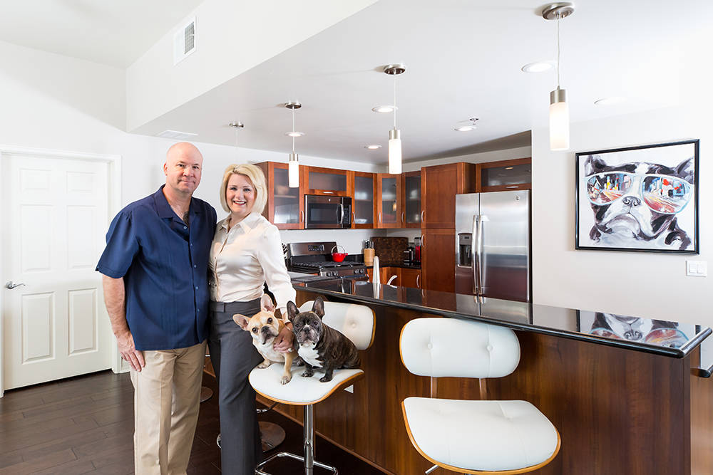 Loren and Karen Johnson traded in life in the suburbs for lifestyle in the heart of downtown Las Vegas. (The Ogden)