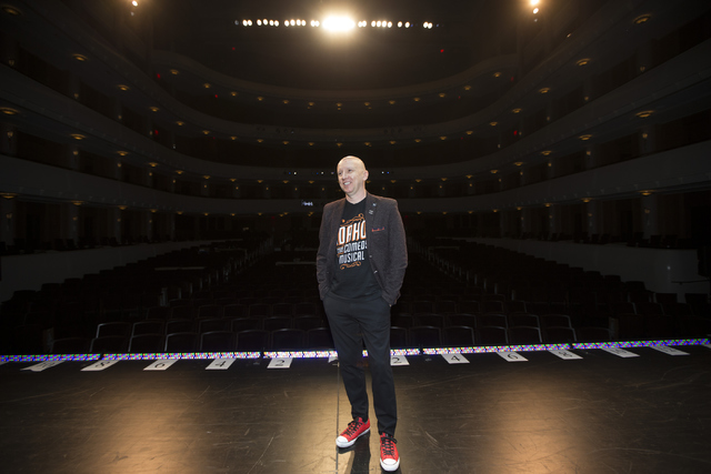 """Andy Walmsley, set designer for """"Idaho! The Comedy Musical,"""" poses for a portrait at the Smith Center's Reynolds Hall on Tuesday, July 5, 2016, in Las Vegas. Erik Verduzco/Las Vegas Review-Journal ..."""