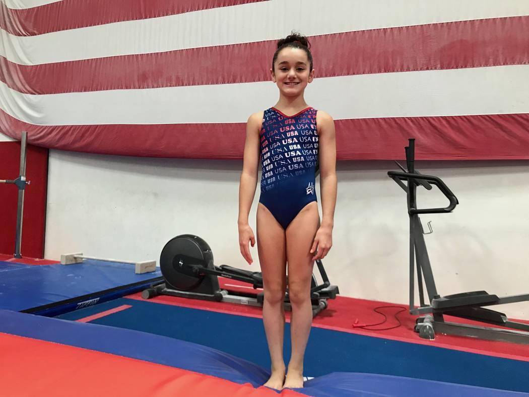 Sienna Robinson at Brown's Gymnastics on Sept. 1. (Madelyn Reese/View) @MadelynGReese