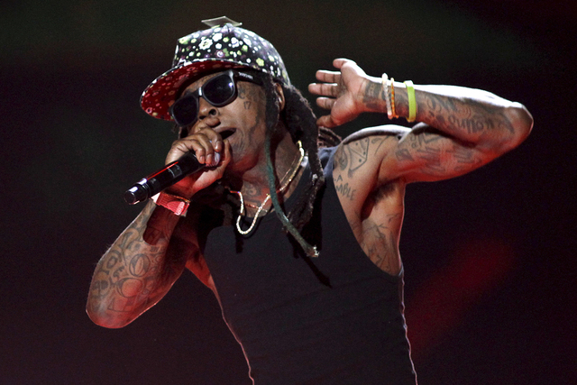 Rapper Lil Wayne performs during the 2015 iHeartRadio Music Festival at the MGM Grand Garden Arena in Las Vegas, Sept. 18, 2015. (Steve Marcus/Reuters)