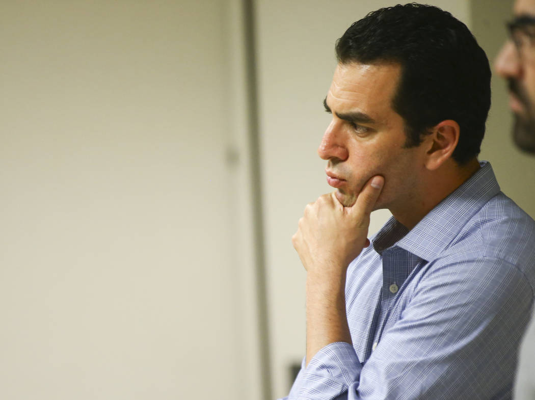 U.S. Rep. Ruben Kihuen, D-Nev., listens during a panel event held by Latinos Unidos at Pearson Community Center in North Las Vegas on Thursday, Aug. 31, 2017. Chase Stevens Las Vegas Review-Journa ...