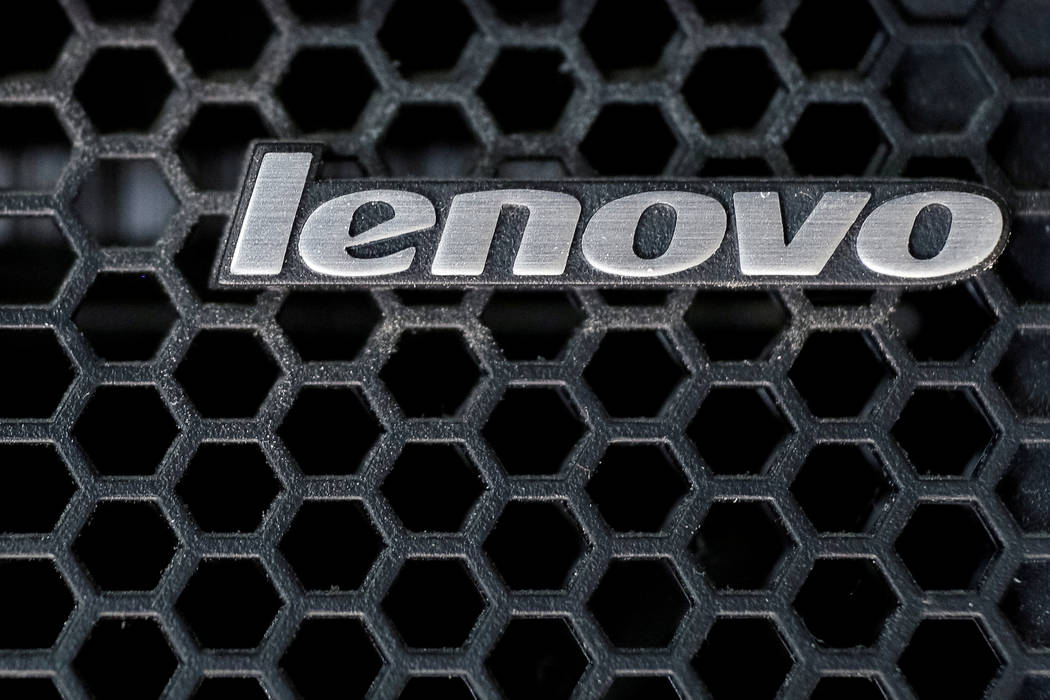 A Lenovo logo on a computer in Kiev, Ukraine, April 21, 2016. (Gleb Garanich/Reuters)