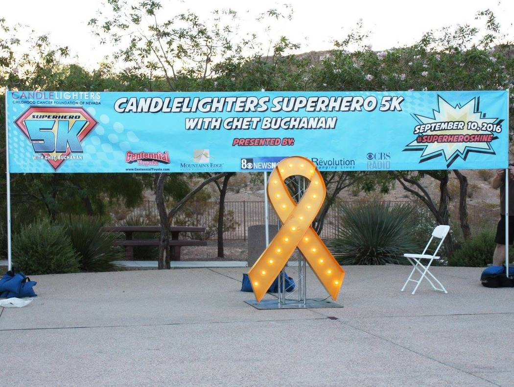The setting for the 2016 Candlelighters Superhero 5K with Chet Buchanan, which took place on Sept. 10, 2016 at Mountain's Edge Exploration Park.