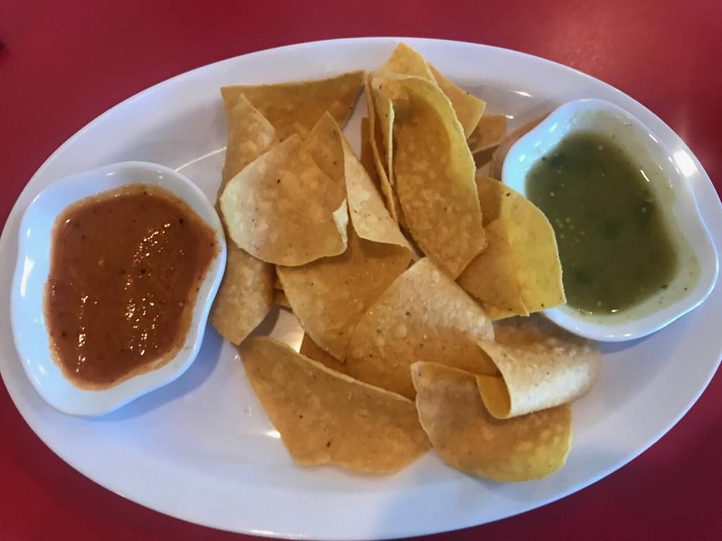 Tortilla chips are served with salsa on Sept. 4, 2017 at Asada Mexican Restaurant, 6412 Losee Road. (Kailyn Brown/View) @KailynHype