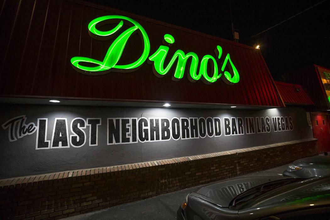 Dino's Lounge in downtown Las Vegas on Thursday, Aug. 31, 2017.  Richard Brian Las Vegas Review-Journal @vegasphotograph