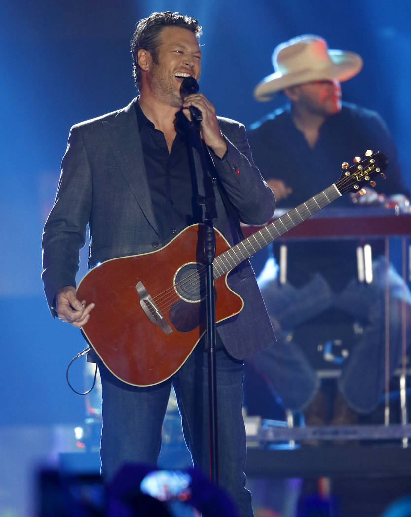 """Blake Shelton performs """"Every Time I Hear that Song"""" on June 7 at the CMT Music Awards at Music City Center in Nashville, Tenn. Shelton, Beyonce, Barbra Streisand and Oprah Winfrey will headline a ..."""