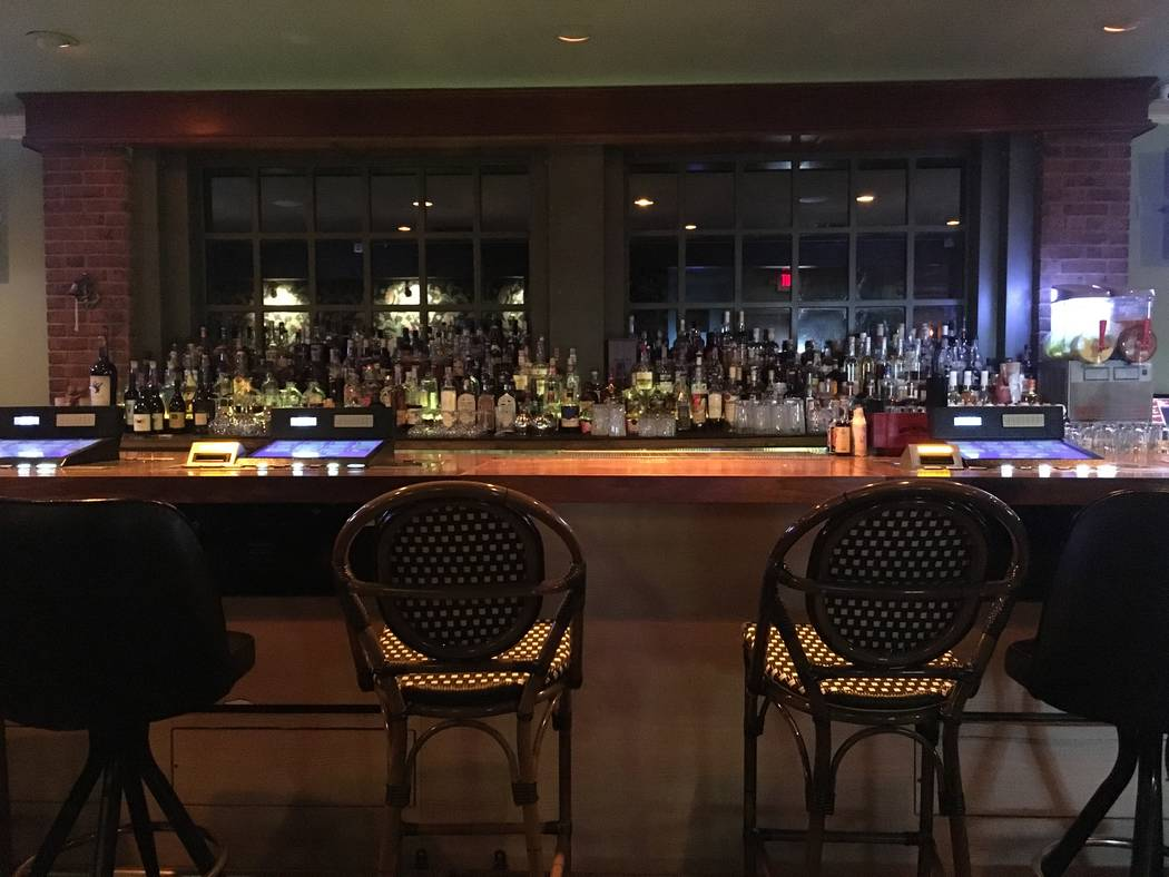 The bar at Starboard Tack offers craft cocktails, over 200 types of rum and craft beer on draft. (Katelyn Umholtz/Las Vegas Review-Journal) @kumh0ltz