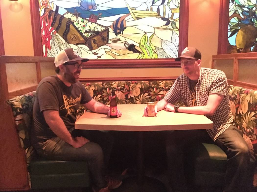 Before opening the Starboard Tack, Bryant Jane and Lyle Cervenka worked together at Retroscena, an amaro bar behind Radio City Pizzeria. (Katelyn Umholtz/Las Vegas Review-Journal) @kumh0ltz