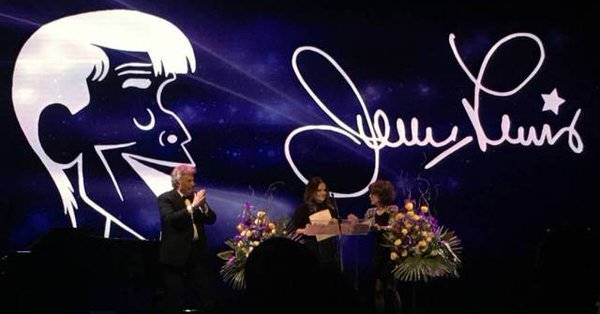 Jerry Lewis' memorial service was held Sept. 4 at the South Point. (Courtesy John Katsilometes)