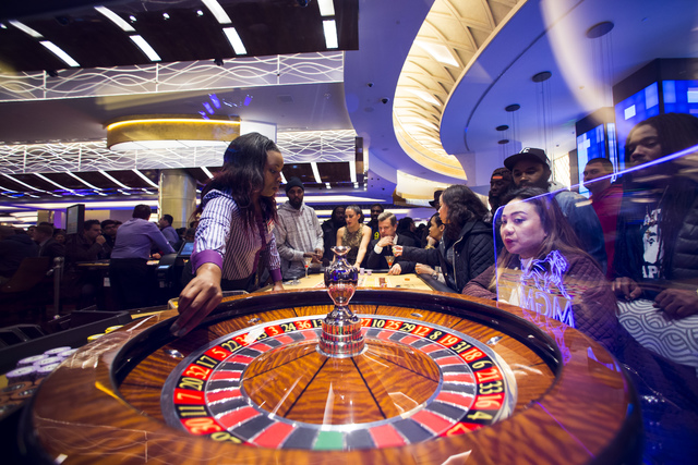 Guests play roulette during opening night at MGM National Harbor hotel-casino in Oxon Hill, Md. on Thursday, Dec. 8, 2016. (Chase Stevens/Las Vegas Review-Journal) @csstevensphoto