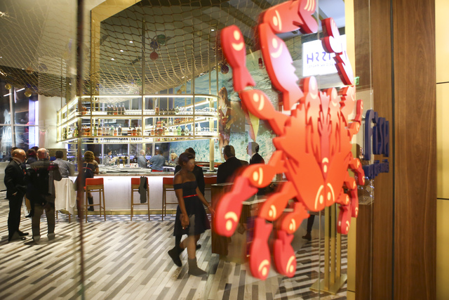 Fish by Jose Andres during opening night at MGM National Harbor hotel-casino in Oxon Hill, Maryland, on Thursday, Dec. 8, 2016. (Chase Stevens/Las Vegas Review-Journal) @csstevensphoto