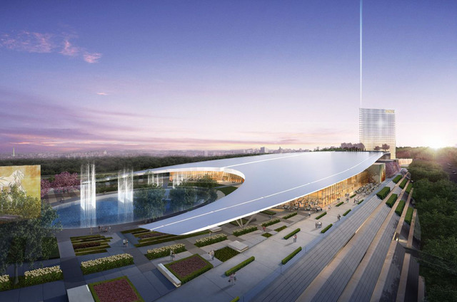 An artist rendering of MGM National Harbor casino in National Harbor, Maryland, near Washington, D.C. (MGM Resorts International)