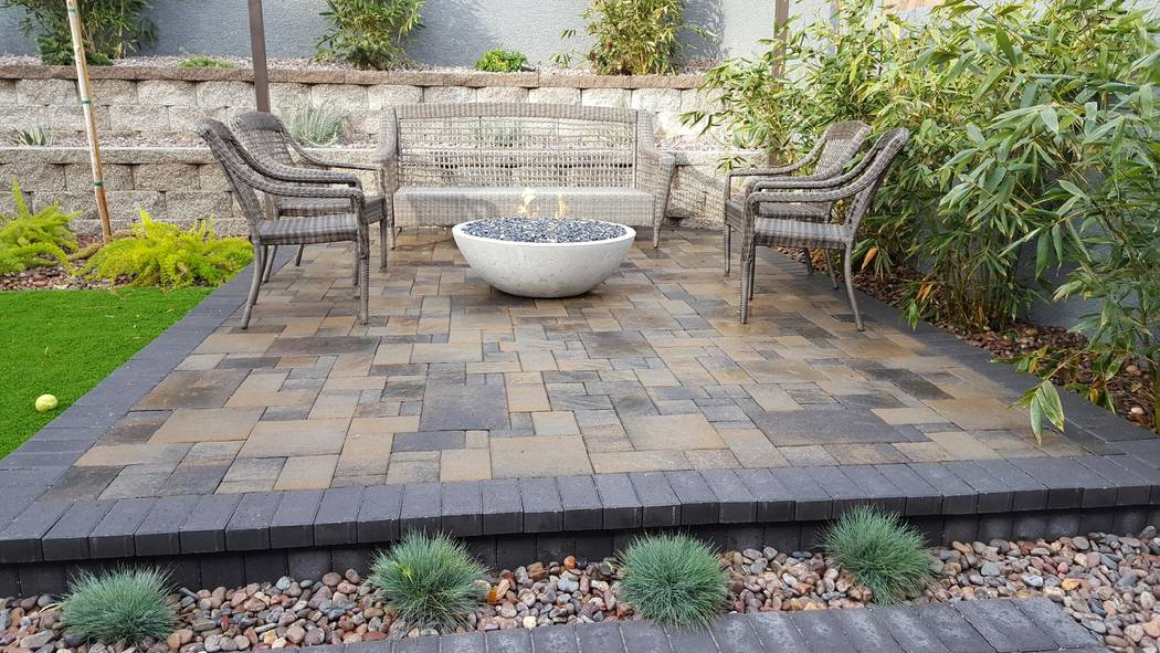 Land View Landscape Services Outdoor furniture should fit the space. Don't overwhelm with large pieces.