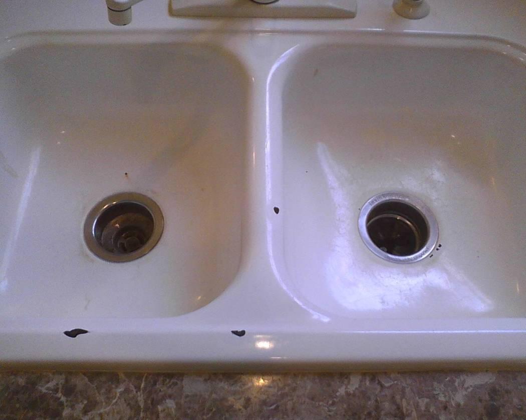 Kitchen sink repair won\'t be flawless but will still look good – Las ...
