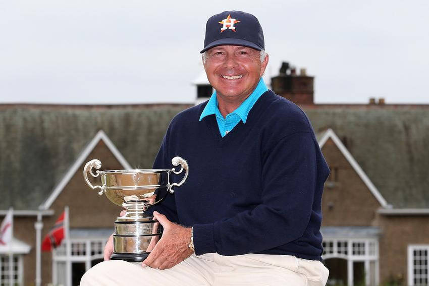 Brady Exber knows Las Vegas golf history and has served as SNGA president and won player of the year awards. Here is shown after winning the 2014 British Senior Amateur, one of 100 amateur tournam ...