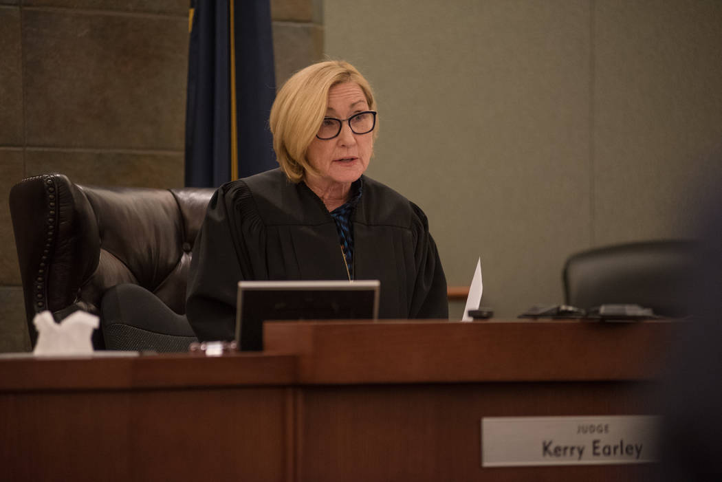 District Court Judge Kerry Earley during Robert Graham's guilty plea hearing on Thursday, Sep. 7, 2017, at Regional Justice Center in Las Vegas. Morgan Lieberman Las Vegas Review-Journal