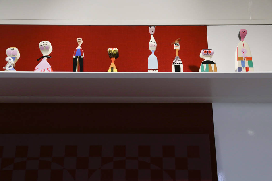 Alexander Girard dolls at Henriksen/Butler's new offices in Las Vegas, Thursday, Sept. 14, 2017. The building used to be the Gamblers Book Shop. Gabriella Angotti-Jones Las Vegas Review-Journal @g ...