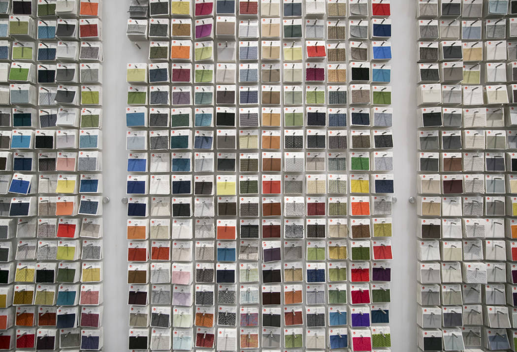 Herman Miller fabric swatches at Henriksen/Butler's new offices in Las Vegas, Thursday, Sept. 14, 2017. The building used to be the Gamblers Book Shop. Gabriella Angotti-Jones Las Vegas Review-Jou ...
