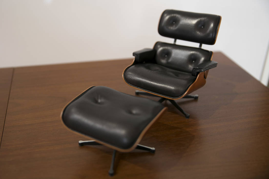 A tiny Eames recliner at Henriksen/Butler's new offices in Las Vegas, Thursday, Sept. 14, 2017. The building used to be the Gamblers Book Shop. Gabriella Angotti-Jones Las Vegas Review-Journal @ga ...