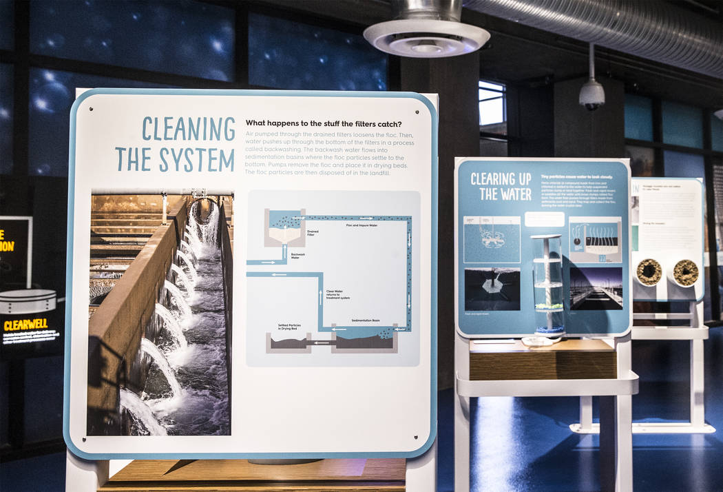A display illustrating Nevada's water filtration system at the new Springs Preserve WaterWorks exhibit on Tuesday, September 5, 2017, in Las Vegas. Benjamin Hager Las Vegas Review-Journal @benjami ...
