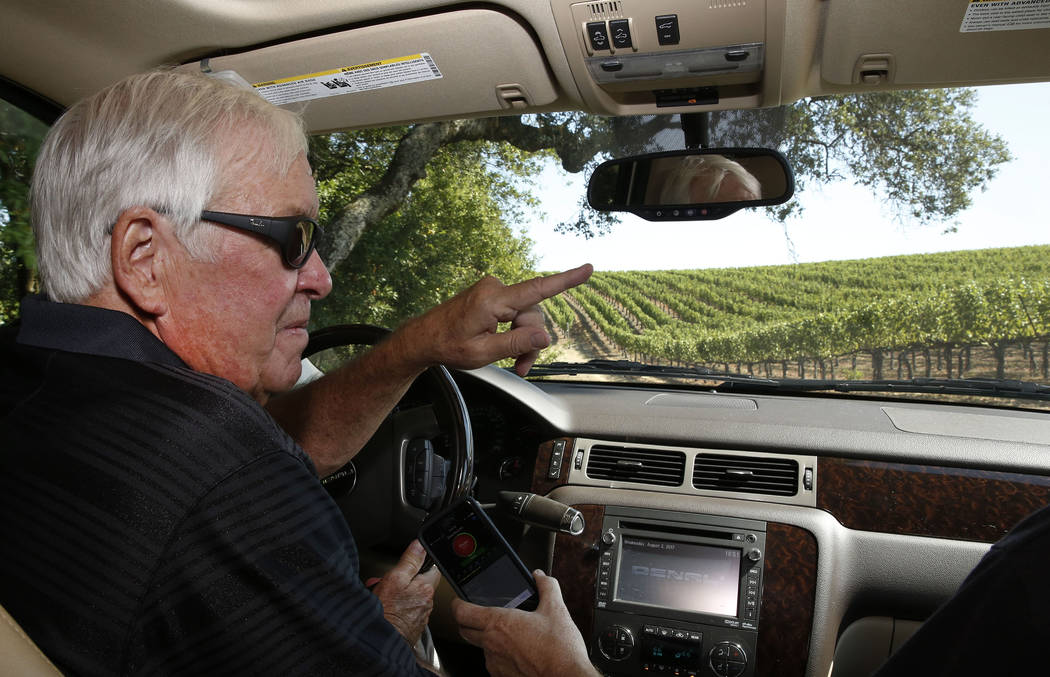 The Vegas Golden Knights owner Bill Foley leads a tour of his Chalk Hill Estate Vineyards and Winery in Healdsburg, Calif., on Wednesday, Aug. 2, 2017. Bizuayehu Tesfaye Las Vegas Review-Journal @ ...