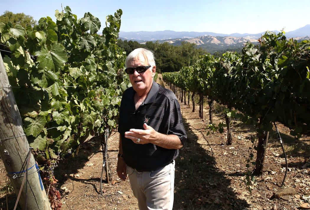 The Vegas Golden Knights owner Bill Foley at one of his Chalk Hill Estate vineyards in Healdsburg, Calif., on Wednesday, Aug. 2, 2017. Bizuayehu Tesfaye Las Vegas Review-Journal @bizutesfaye