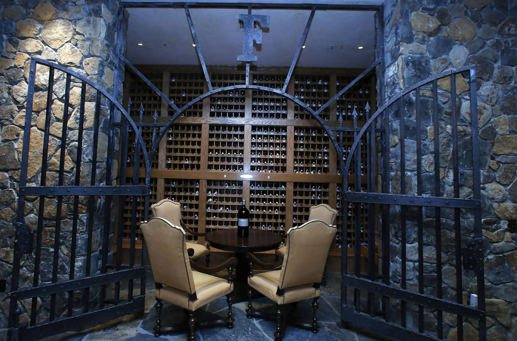 Chalk Hill Estate Vineyards' underground wine cellar, owned by the Vegas Golden Knights owner Bill Foley, in Healdsburg, Calif., on Wednesday, Aug. 2, 2017. Bizuayehu Tesfaye Las Vegas Review-Jour ...