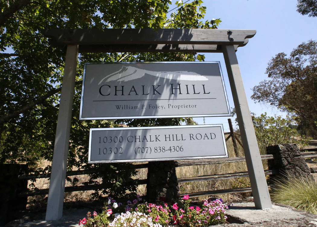 Chalk Hill Estate Vineyards and Winery in Healdsburg, Calif., on Wednesday, Aug. 2, 2017. Bizuayehu Tesfaye Las Vegas Review-Journal @bizutesfaye